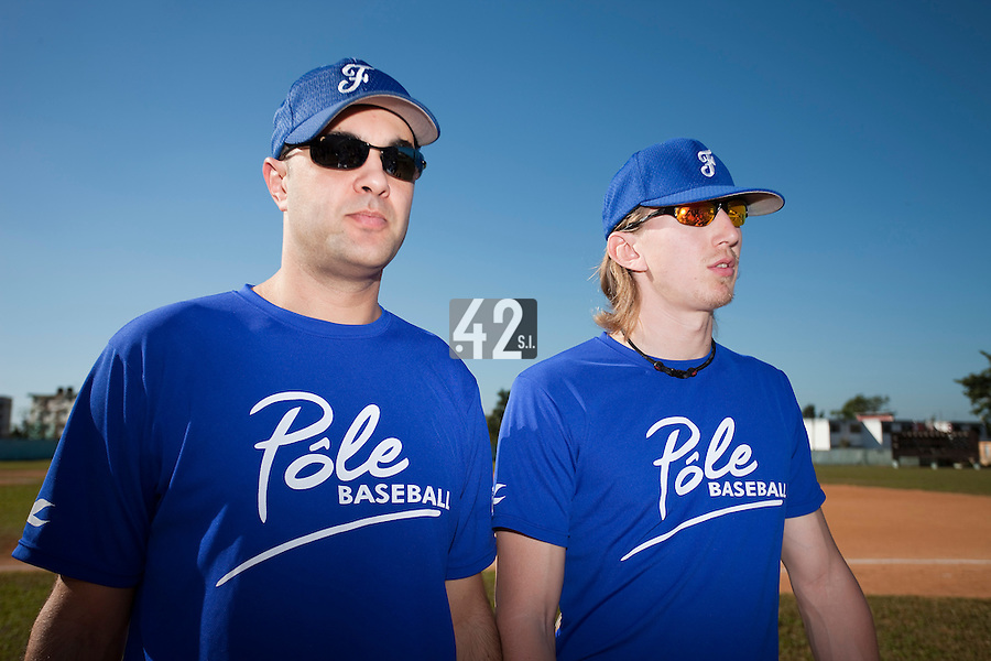 BASEBALL - POLES BASEBALL FRANCE - TRAINING CAMP CUBA - HAVANA (CUBA) - 13 TO 23/02/2009 - LUC PIQUET, SYLVAIN VIREY (FRANCE)