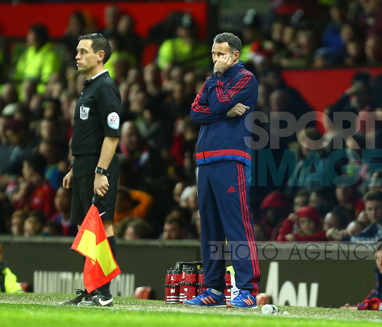 Ryan Giggs, assistant manager of Manchester United dejected - Manchester United vs Norwich City - Barclays Premier League - Old Trafford - Manchester - 19/12/2015 Pic Philip Oldham/SportImage