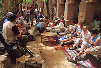 Near Skoura, Morocco - Tourists Having Tea at the Kasbah Ameridhil.