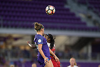 Orlando, FL - Tuesday August 08, 2017: Maddy Evans, Cheyna Williams during a regular season National Women's Soccer League (NWSL) match between the Orlando Pride and the Chicago Red Stars at Orlando City Stadium.