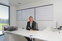 Pictured: Graham Potter sits in his office. Monday 11 June 2018<br /> Re: Graham Potter is announced as the new manager for Swansea City AFC at the Fairwood Training Ground, south Wales, UK.
