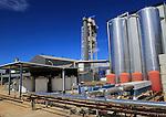 Desalinisation plant at the solar energy scientific research centre, Tabernas, Almeria, Spain