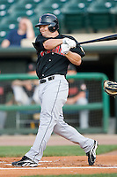 Indianapolis right fielder Steven Pearce (16) follows through on his swing Louisville at Louisville Bats Field in Louisville, KY, Wednesday, August 8, 2007.