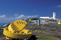 The Punta Sur Sculpture on Isla Mujeres, Quintana Roo, Mexico. This open-air sculpture garden in El Parque Garrafon opened in 2001. Sculptures by 23 Mexican and foreign plastic artists are on display.