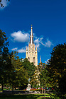 September 29, 2017; Basilica steeple (Photo by Matt Cashore/University of Notre Dame)