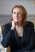 La grande scrittrice russa Narine Abgarjan per la prima volta in Italia presenta il suo ultimo romanzo, E dal cielo caddero tre mele. Milan 17 novembre 2018. © Leonardo Cendamo
