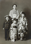 vintage family photo Japan late 1930s early1940s