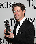 Christian Borle pictured at the 66th Annual Tony Awards held at The Beacon Theatre in New York City , New York on June 10, 2012. © Walter McBride /  WM Photography .