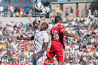 Carson, CA - Sunday, February 8, 2015 Gyasi Zardes (20) of the USMNT and Yairo Yau (16) of Panama. The USMNT defeated Panama 2-0 during an international friendly at the StubHub Center.