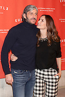 Model Eugenia Silva and Alfonso de Borbon pose during the EUSTYLE project presentation in Madrid, Spain. December 02, 2014. (ALTERPHOTOS/Victor Blanco) /NortePhoto.com