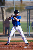 Jake Dykhoff (53), from Wadena, Minnesota, while playing for the Dodgers during the Under Armour Baseball Factory Recruiting Classic at Red Mountain Baseball Complex on December 28, 2017 in Mesa, Arizona. (Zachary Lucy/Four Seam Images)
