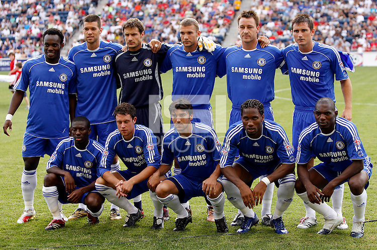 Chelsea FC starting XI. The MLS All-Stars defeated Chelsea FC 1-0 in the 2006 MLS All-Star Game at Toyota Park, Bridgeview, IL, August 5, 2006.