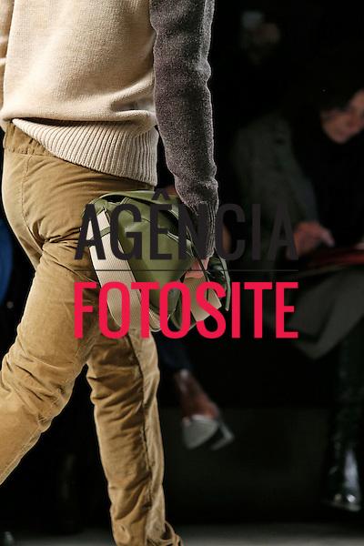Milao, Italia &ndash; 01/2014 - Desfile de Bottega Veneta durante a Semana de moda masculina de Milao - Inverno 2014. <br /> Foto: FOTOSITE