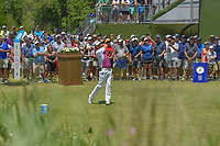 Padraig Harrington (IRL) watches his tee shot on 1 during round 1 of the AT&T Byron Nelson, Trinity Forest Golf Club, at Dallas, Texas, USA. 5/17/2018.<br /> Picture: Golffile | Ken Murray<br /> <br /> <br /> All photo usage must carry mandatory copyright credit (© Golffile | Ken Murray)