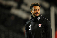 Cyrus Christie of Fulham FC seen during the Sky Bet Championship match between Fulham and Sheff United at Craven Cottage, London, England on 6 March 2018. Photo by Carlton Myrie.