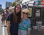 Julie and Julie during Art Fest on Saturday June 30, 2018 in downtown Reno.