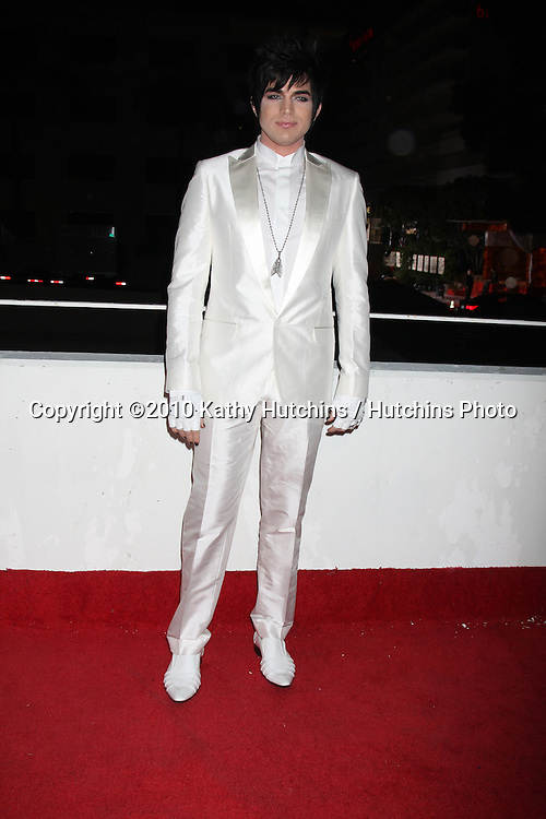 Adam Lambert.arriving at the 3rd Annual Art of Elysium Gala.Rooftop of Parking Garage across from Beverly Hilton Hotel.Beverly Hills, CA.January 16, 2010.©2010 Kathy Hutchins / Hutchins Photo....