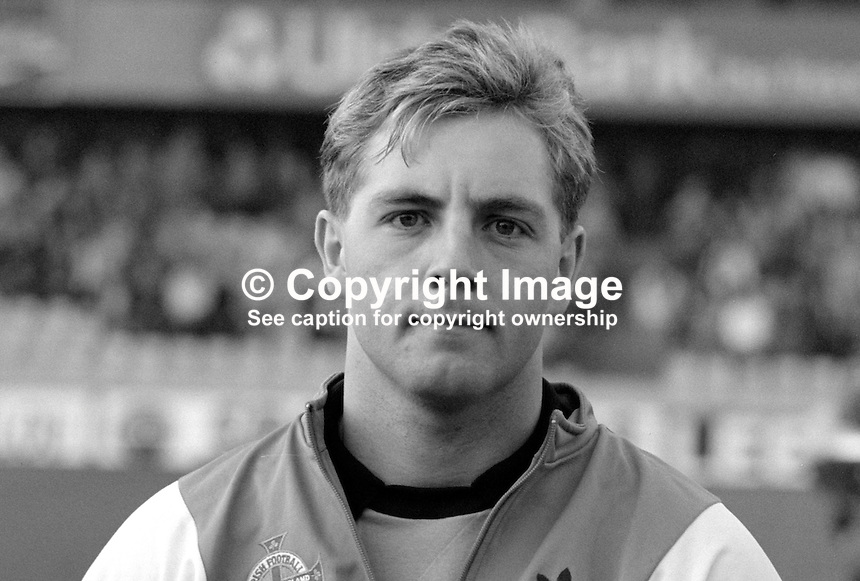 Allen McKnight, footballer, N Ireland & Glasgow Celtic, 19880305AMK2..Copyright Image from Victor Patterson, 54 Dorchester Park, Belfast, UK, BT9 6RJ..Tel: +44 28 9066 1296.Mob: +44 7802 353836.Voicemail +44 20 8816 7153.Skype: victorpattersonbelfast.Email: victorpatterson@me.com.Email: victorpatterson@ireland.com (back-up)..IMPORTANT: If you wish to use this image or any other of my images please go to www.victorpatterson.com and click on the Terms & Conditions. Then contact me by email or phone with the reference number(s) of the image(s) concerned.