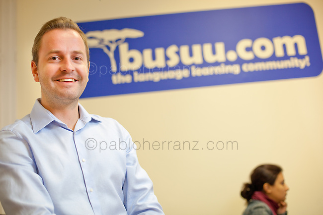 Bernhard Niesner at BUSUU offices in Madrid.