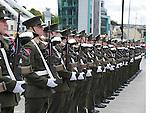Soldiers on parade at the Famine Commemoration in Drogheda. Photo: Colin Bell/pressphotos.ie