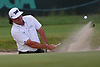 Pat Perez shoots out of a bunker on the 17th Hole during the first round of the U.S. Open Championship at Shinnecock Hills Golf Club in Southampton on Thursday, June 14, 2018.