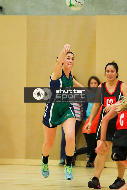 Jacks OPD Richmond v Richmond Robbies Bar &amp; Bistro, Nelson Premier Netball, 12 June 2014, Saxton Stadium, Nelson, New Zealand<br /> Photo: Marc Palmano/shuttersport.co.nz