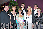 CHRISTMAS DINNER: Attending the AIB Christmas dinner at the Fels Point Hotel on Saturday l-r: Jim Leahy, Catherine Leahy, Bernie Mannix, Pat Madden, Michelle O'Neill, James O'Sullivan and Caroline O'Sullivan..   Copyright Kerry's Eye 2008