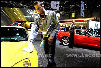 Genève, le 28.02.2005.76 ème salon international de l'automobile 2006 à Genève..© J.-P. Di Silvestro/ Le Courrier