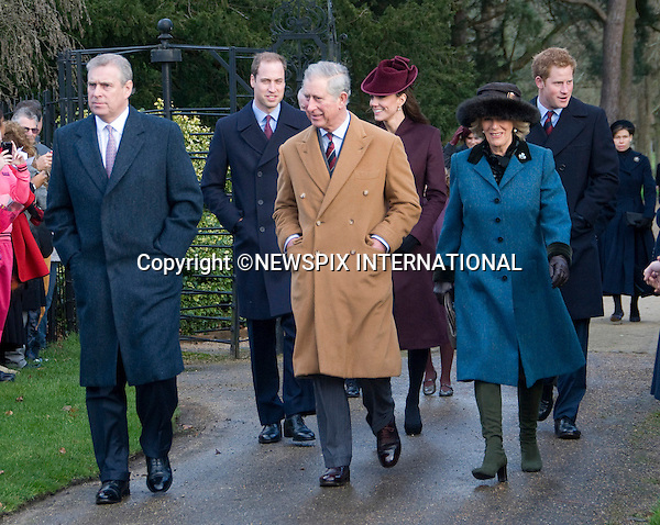 """KATE'S 1ST CHRISTMAS AT SANDRINGHAM.Catherine, Duchess of Cambridge joined members of the Royal Family for her first Christmas at Sandringham, Norfolk..She attended Christmas Day Service together with other members of the Roayal Familt a St. Mary Magdalene Church, Sandringham_25/12/2011.Mandatory Credit Photo: ©NEWSPIX INTERNATIONAL..Please telephone : +441279324672 for usage fees..**ALL FEES PAYABLE TO: """"NEWSPIX INTERNATIONAL""""**..IMMEDIATE CONFIRMATION OF USAGE REQUIRED:.Newspix International, 31 Chinnery Hill, Bishop's Stortford, ENGLAND CM23 3PS.Tel:+441279 324672  ; Fax: +441279656877.Mobile:  07775681153.e-mail: info@newspixinternational.co.uk"""