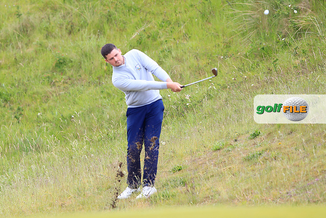 T.J. Ford (Co.Sligo) on the 4th during Round 1 of the The Amateur Championship 2019 at The Island Golf Club, Co. Dublin on Monday 17th June 2019.<br /> Picture:  Thos Caffrey / Golffile<br /> <br /> All photo usage must carry mandatory copyright credit (© Golffile   Thos Caffrey)