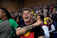 Pulse fans perform a haka after the 2019 ANZ Premiership netball final match between the Central Pulse and Northern Stars at Te Rauparaha Arena in Wellington, New Zealand on Monday, 3 June 2019. Photo: Dave Lintott / lintottphoto.co.nz