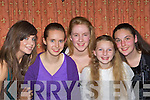 Niamh Joy, Eimear Foley, Bridette Dineen, Sadhbh and Aisling Clifford having fun at the Gneeveguilla AC social in Darby O'Gills, Killarney on Friday night