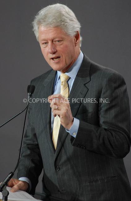 WWW.ACEPIXS.COM . . . . .....April 20 2007, New York City....Ex-president Bill Clinton hosts the Clinton Global Initiative Mid-Year Meeting at the Lincoln Center in midtown Manhattan.  ....Please byline: Kristin Callahan - ACEPIXS.COM..... *** ***..Ace Pictures, Inc:  ..Philip Vaughan (646) 769 0430..e-mail: info@acepixs.com..web: http://www.acepixs.com