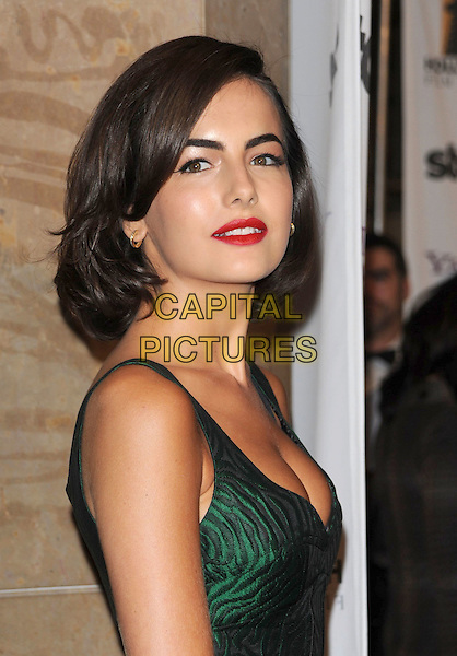 CAMILLA BELLE .The Hollywood Film Festival's Gala Ceremony held at Beverly Hilton Hotel in Beverly Hills, California,  USA..October 27th, 2008     .headshot portrait red lipstick cleavage green.CAP/DVS.©Debbie VanStory/Capital Pictures.