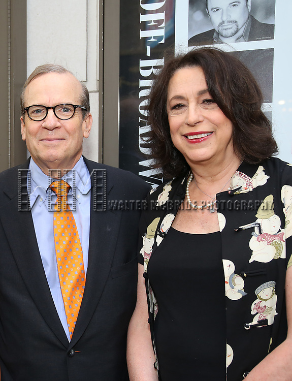 Barry Grove and Lynne Meadow attends the Broadway Opening Night performance of 'The Prince of Broadway' at the Samuel J. Friedman Theatre on August 24, 2017 in New York City.