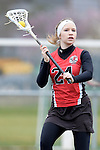 GER - Mainz, Germany, March 20: During the 1. Bundesliga Damen lacrosse match between Mainz Musketeers (white) and SC Frankfurt 1880 (red) on March 20, 2016 at Sportgelaende Dalheimer Weg in Mainz, Germany. Final score 7-12 (HT 3-5). (Photo by Dirk Markgraf / www.265-images.com) *** Local caption *** Clara Pustoslemsek #24 of SC Frankfurt 1880