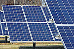 The 200 kW solar array, which will power farm operations, is seen at the Sustainable Agriculture Celebration at Harborview Farms on Thursday, December 6, 2012 in Rock Hall, MD. Harborview Farms, a 10,000 plus acre farm exemplifies cutting edge management practices and key collaborations with DuPont and is one of the largest and most sustainably driven farming operations in Maryland. (Larry French/AP Images for DuPont)..