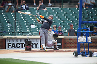 Alex Toral (20) of Archbishop McCarthy High School in Davie, Florida during the home run derby before the Under Armour All-American Game presented by Baseball Factory on July 23, 2016 at Wrigley Field in Chicago, Illinois.  (Mike Janes/Four Seam Images)