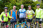 Pictured at The Red Fox Inn at the end of their cycle for Bru Columbanus<br /> L-R Caroline Coffey , John Brown &amp; Sean Moriarty from Caragh Lake Liam Fitzgerald form Upper Tullig &amp; Kevin Hickey from Rossbeigh.