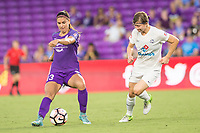 Orlando, FL - Saturday July 15, 2017: Alex Morgan, Becca Moros during a regular season National Women's Soccer League (NWSL) match between the Orlando Pride and FC Kansas City at Orlando City Stadium.