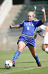 Carolyn Riggs, of Duke, on Sunday October 2nd, 2005 at SAS Stadium in Cary, North Carolina. The Duke University Blue Devils defeated the North Carolina State University Wolfpack 1-0 during an Atlantic Coast Conference women's soccer game.