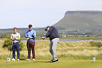 Gary Cullen (Portmarnock Links) on the 11th tee during the Flogas Irish Amateur Open Championship 2019 at the Co.Sligo Golf Club, Rosses Point, Sligo, Ireland. 15/05/19<br /> <br /> Picture: Thos Caffrey / Golffile<br /> <br /> All photos usage must carry mandatory copyright credit (© Golffile | Thos Caffrey)