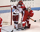 Bradley Fusco (Harvard - 9), Abby Cook (BU - 9), Erin O'Neil (BU - 31) - The Harvard University Crimson tied the Boston University Terriers 6-6 on Monday, February 7, 2017, in the Beanpot consolation game at Matthews Arena in Boston, Massachusetts.
