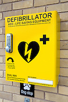 Defibrillator outside a Co-operative Store in Nottingham