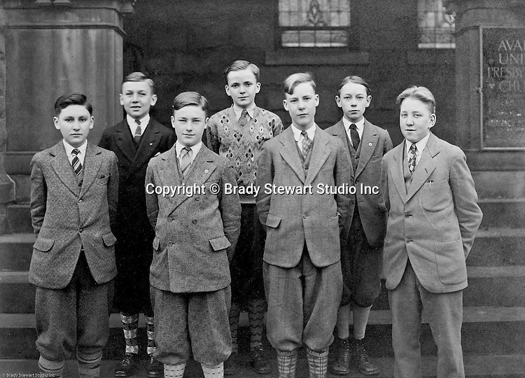 Pittsburgh PA:  View of the boy scouts that attended the Avalon United Presbyterian Church - 1921.