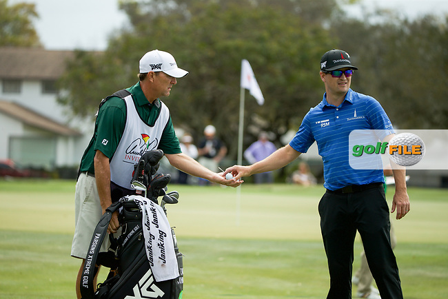 Zach Johnson (USA) and caddy Brian Smith during the final round of the Arnold Palmer Invitational presented by Mastercard, Bay Hill, Orlando, Florida, USA. 08/03/2020.<br /> Picture: Golffile | Scott Halleran<br /> <br /> <br /> All photo usage must carry mandatory copyright credit (© Golffile | Scott Halleran)