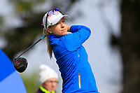 Jodi Ewart Shadoff (EUR) on the 2nd tee during Day 3 Singles at the Solheim Cup 2019, Gleneagles Golf CLub, Auchterarder, Perthshire, Scotland. 15/09/2019.<br /> Picture Thos Caffrey / Golffile.ie<br /> <br /> All photo usage must carry mandatory copyright credit (© Golffile | Thos Caffrey)