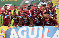 IBAGUE -COLOMBIA, 30-07-2017:Formación del Deportes Tolima.Acción de juego entre los equipos Deportes Tolima y Millonarios  durante partido por la fecha 5 de la Liga Águila II 2017 jugado en el estadio Manuel Murillo Toro de la ciudad de Ibagué . / Team of Deportes Tolima.  Action game between Deportes Tolima and Millonarios  during match for the date 5 of Aguila League II 2017 played at Manuel Murillo Toro stadium in Ibague. Photo: VizzorImage / Juan Carlos Escobar  / Cont