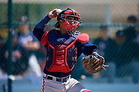 Atlanta Braves Ricardo Rodriguez (8) during practice before a minor league Spring Training game against the Pittsburgh Pirates on March 13, 2018 at Pirate City in Bradenton, Florida.  (Mike Janes/Four Seam Images)