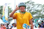 Kaya Isa (JPN), <br /> AUGUST 29, 2018 - Skateboarding : <br /> Women's Park  Final<br /> at Jakabaring Sport Center Skatepark <br /> during the 2018 Jakarta Palembang Asian Games <br /> in Palembang, Indonesia. <br /> (Photo by Yohei Osada/AFLO SPORT)